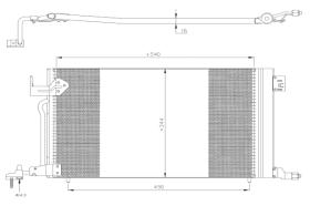 NRF 35304 - Condensador Citroen/Peugeot