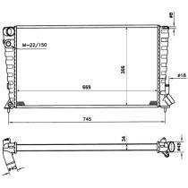 NRF 509510 - Radiador Citroen/Peugeot